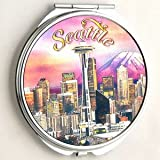 Seattle Sunset Make Up Compact Mirror
