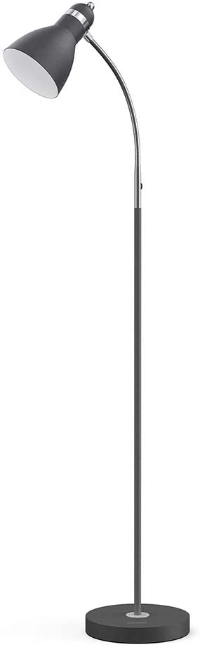 LEPOWER Metal Floor Lamp, Adjustable Goose Neck Standing Lamp with Heavy Metal Based, Torchiere Light for Living Room, Bedroom, Study Room and Office - -
