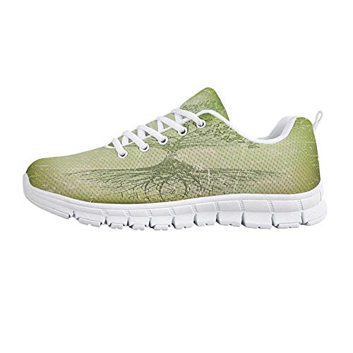 Tree of Life Comfortable Sports Shoes,Grunge Style Tree with Roots in Soil Reflection Mystic Life Wisdom Growth Aged Look for Men & Boys,US Size 10.5 (Best Soil For Bay Trees)