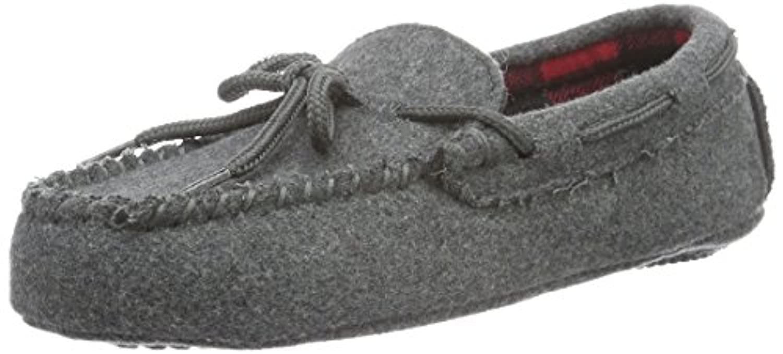 Ralph Lauren Boys' Rustle Moc Low-Top Slippers, Grau (Grey Wool W Buffalo Plaid), 1