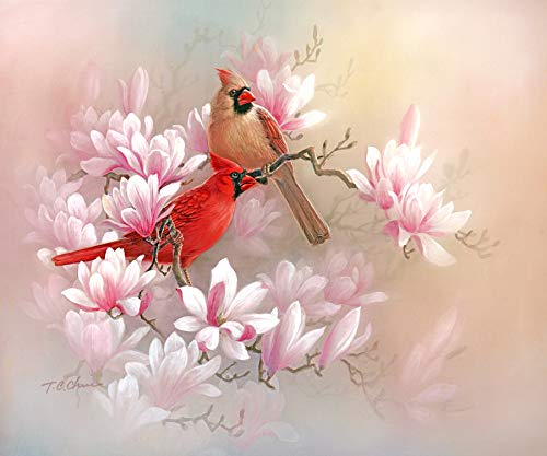 ia Art Print of Painting - Flowers Birds Chinese Asian Oriental Style ()