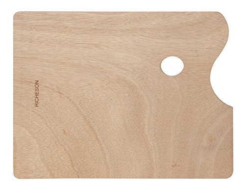 Jack Richeson 696038 Wooden Rectangular Palette, 9'' x 12'' by Jack Richeson