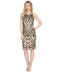 Mattox Embroidered Sequin Dress