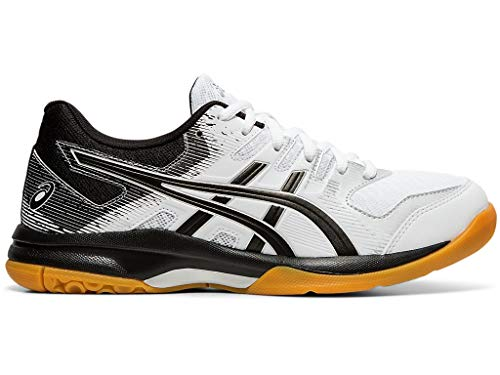 ASICS Women's Gel-Rocket 9 Volleyball Shoes, 9M, White/Black