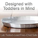 Set of 4 Stainless Steel Plates Toddler Tough Baby