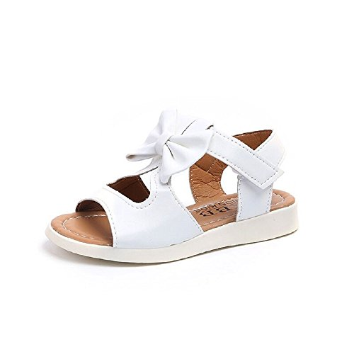 4b689f86a57a2 Beautoday Girls' Open Toe Strap Sandals Bowknot Summer Casual Shoes ...
