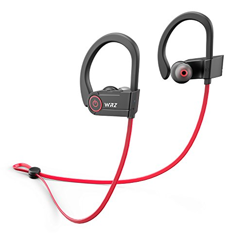 WRZ V3 Bluetooth Headphones Wireless Sport Earbuds Waterproof Running Headset with Microphone 8 Hours Play Time for Workout Gym Cordless Earphones by WRZ