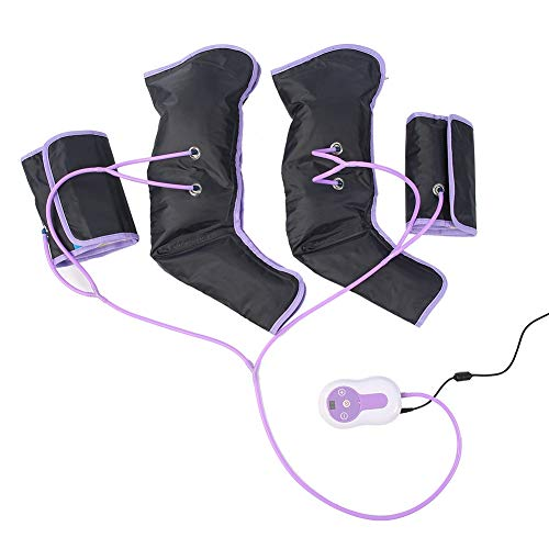 Air Compression Leg Massager, Foot Calf and Thigh Circulation Massage with Portable Handheld Controller(US Plug)