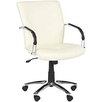 Amazoncom HomCom Modern PU Leather Midback Executive Office - Cream desk chair