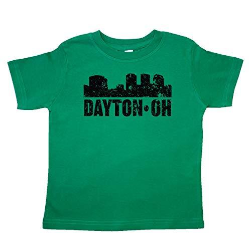 inktastic Dayton Skyline Grunge Toddler T-Shirt 4T Kelly ()
