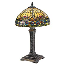 Design Toscano The Carlisle Beaux-Arts Stained Glass Lamp