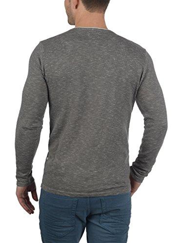 100 du cou ras gris avec Pull en en col poitrine Pull coton poche de et redéfini moyen mailles hommes pour Maverick fines Rebel wwxgqOH