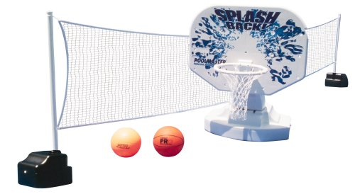 Poolmaster 72845 Splashback Poolside Basketball / Volleyball Game by Poolmaster