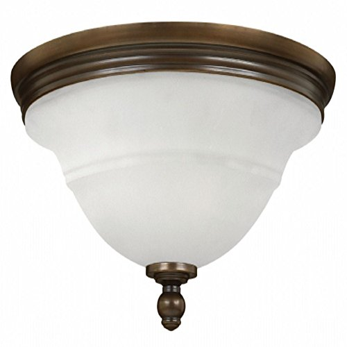 Hinkley 54261OB Traditional Three Light Bath Flush Mount from Plymouth collection in Bronze/Darkfinish,