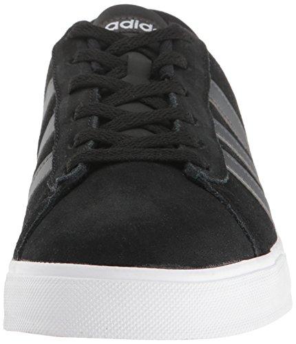 Adidas NEO Men's Daily Fashion Sneaker, Black/Dark Grey Heather/White, 11.5 M US