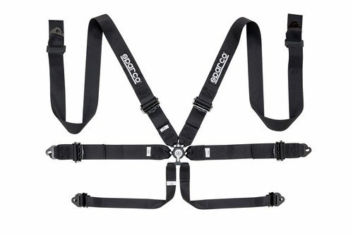 Sparco 04818ralnr Harness in 6Points, Black