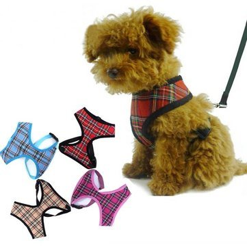 1st Confederate Flag (Dog - Step Harness Small Teacup Tartan Mesh - In Dog - 1PCs)