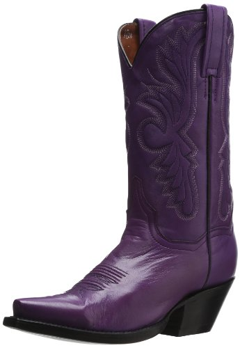 Dan Post Women's Wild Ride, Purple, 8 B (M) US (Womens Cowboy Boots Purple)