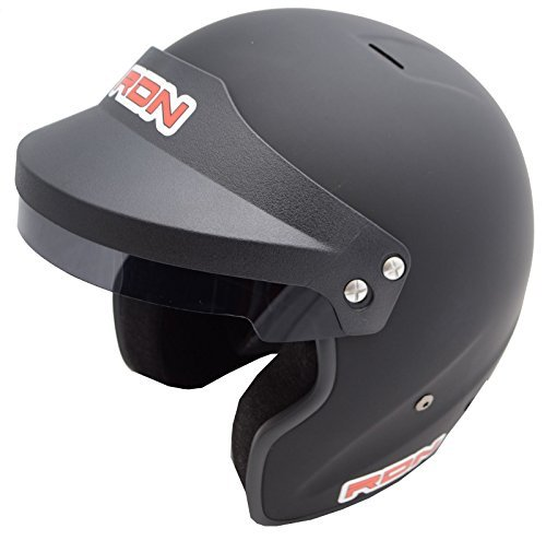Racerdirect.net Racing Helmet Matte Black SA2015 Open FACE Snell SA 2015 Rating Adult 2X ()