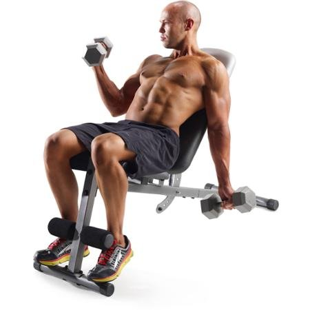 Gold's Gym Xr 5.9 Slant Bench Included to Help You Perform the Exercises More Effectively