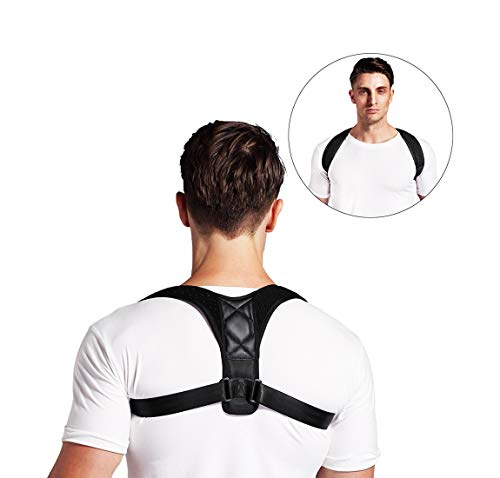 Posture Corrector & Back Support Brace for Women Men and Kids, Adjustable Clavicle Shoulder Support Upper Back Brace for Improving Thoracic Kyphosis, Preventing Slouching and Hunched, Neck Pain Relief by ArmaGedon