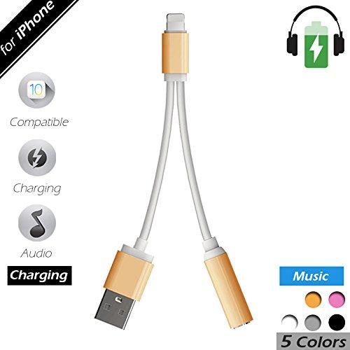 2 in 1 Lightning iPhone 7 Adapter & Splitter, Lightning Adap
