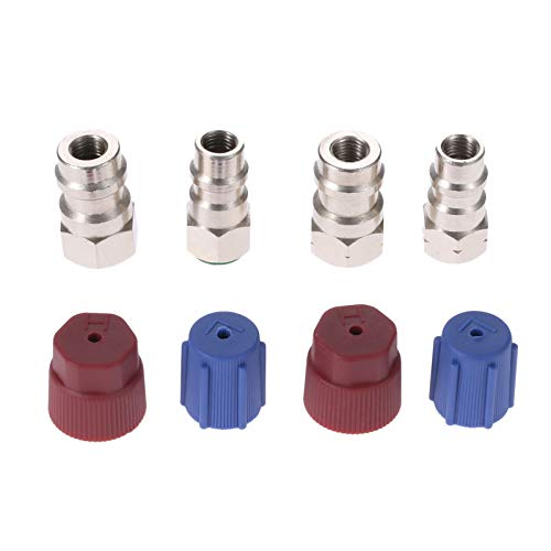 Aupoko R12 R22 to R134A Conversion Adapter Kit, R12 to R134A Retrofit Valve Fitting Kit for A/C Pro Refrigerant ()