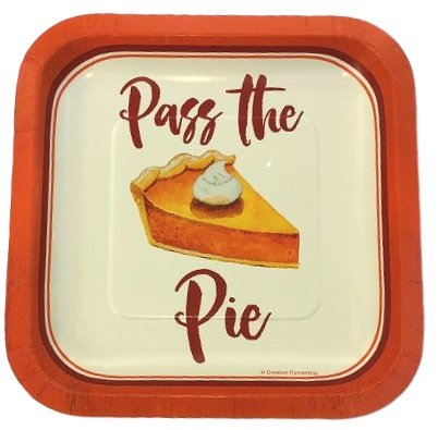 Pass The Pie Luncheon Dessert Plates (Paper Luncheon Plates Thanksgiving)