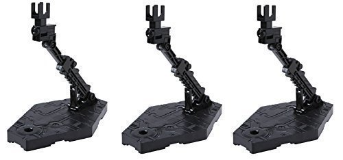 Bandai-Hobby-Action-Base-2-Display-Stand-1144-Scale-Black-Value-Set-of-3-Plus-a-Character-card-of-Gundam-try-age