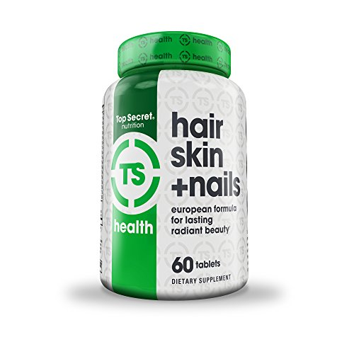 Top Secret Nutrition Hair Skin & Nails European Formula o...
