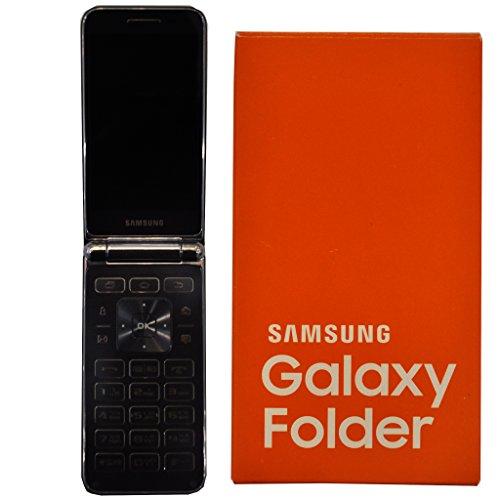 Cheap Unlocked Cell Phones Samsung Galaxy Folder SM-G150 8GB Single-SIM Factory Unlocked Android Flip Smartphone(Dark Blue)..