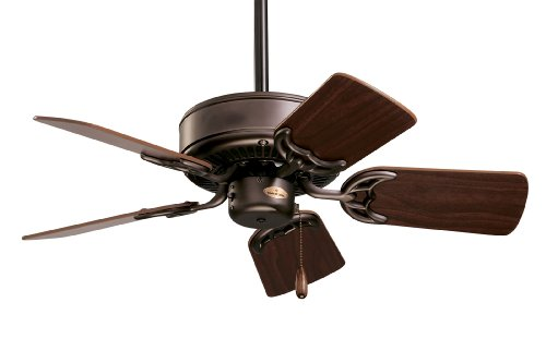 kathy ireland HOME Northwind Indoor Ceiling Fan, 29 Inch | Includes 5 Reversible Blades and 3.5-Inch Downrod for Semi…