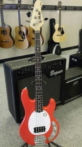 Sterling By Music Man Ray 4 SUB Electric Bass Guitar, NEW FIESTA RED