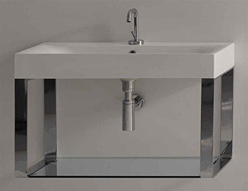 Rectangular Bathroom Sink with Overflow