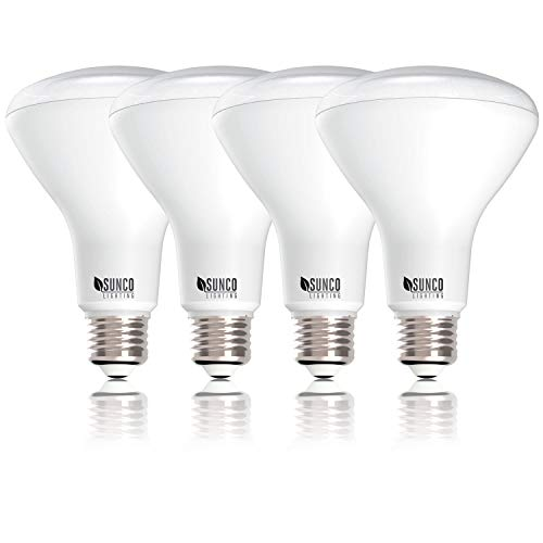 Sunco Lighting 4 Pack BR30 LED Bulb 11W=65W, 4000K Cool White, 850 LM, E26 Base, Dimmable, Indoor/Outdoor Flood Light - UL & Energy Star