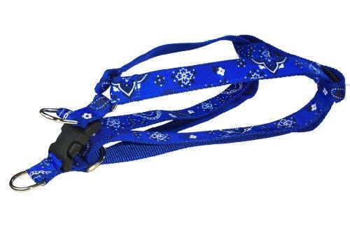 """Sassy Dog Wear 3/4"""" x 18""""-24"""" Bandana Dog Harness, Medium, Blue"""