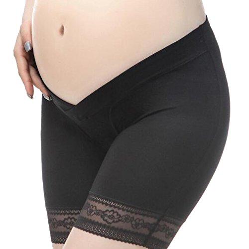 2PCS Pantaloncini da Pantaloncini maternità Pantaloncini Juleya Nero incinta Wasit bassi traspiranti cotone nero di 0wEIAWqx