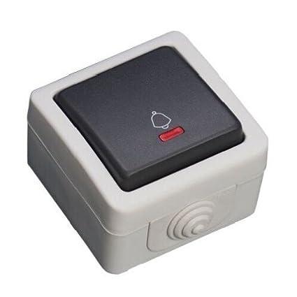 GSC Evolution 1200868 Pulsador estanco con led luminoso IP54, 250 V, 10A