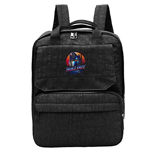WUHONZS Travel Backpack Trans-formers Optimus Prime Roll Out