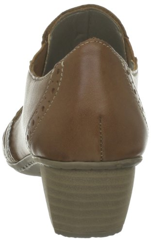 Rieker 41763 - Zapatillas de casa de cuero mujer marrón - Braun (noce 22)