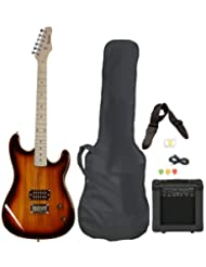 Full Size Electric Guitar with Amp, Case and Accessories Pack...