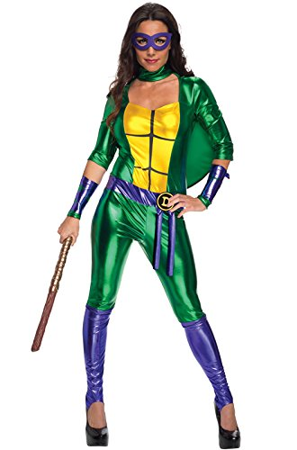 Secret Wishes Women's Teenage Mutant Ninja Turtles Donatello Costume Jumpsuit, Multi, X-Small