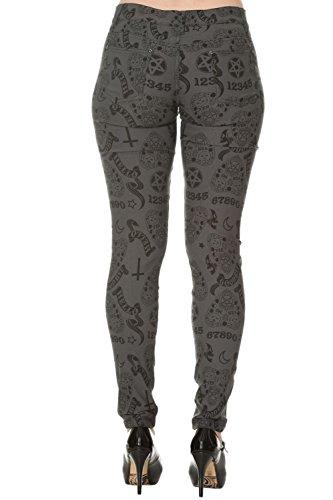 Pantalones Ajustados Moonlight Silence de Banned Gris
