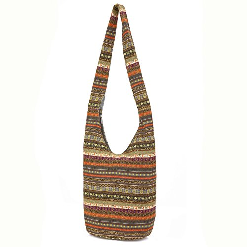 MIANZI Women Hand Fashion canvas Crossbody Bags Cotton Bohemian Animal Prints Hobo Bags (Leather Print Hobo Bag)