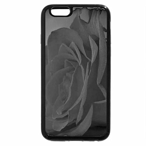iPhone 6S Plus Case, iPhone 6 Plus Case (Black & White) - Flored Rose