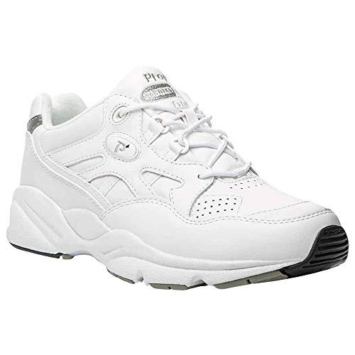 Propet Women's Stability Walker Shoe White 7.5 W (D)