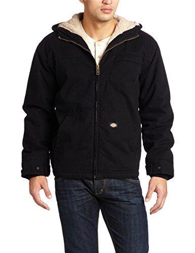 Hot Dickies Men's Sanded Duck Sherpa Lined Hooded Jacket
