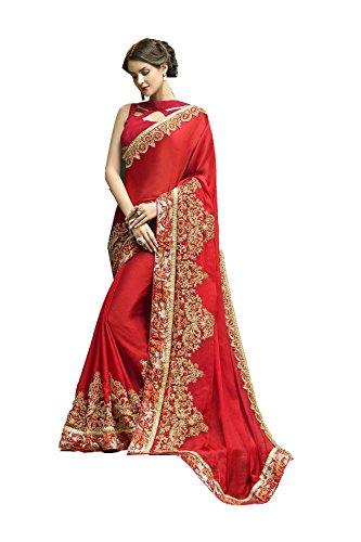 Da Facioun Indian Sarees for Women Wedding Designer Party Wear Traditional Red Sari.