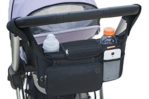 Original ONETWOBE Stroller Organizer – Universal fit, Insulated Cup Holders, Detachable Pockets, Shoulder Strap. Large Storage Space for Diapers, Toys, Sippy Cups and More. by Onetwobe