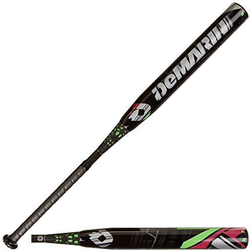 DeMarini CF7 Insane -10 Fastpitch Baseball Bat, Black/Green, 33-Inch/23-Ounce